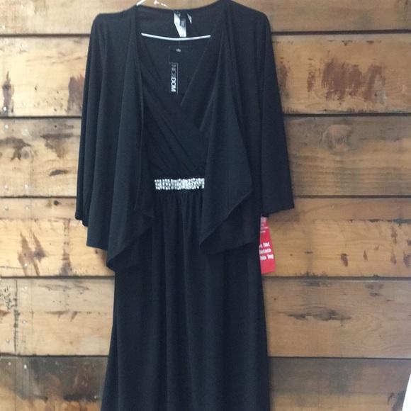 nic & dom Dresses & Skirts - NWT Black Dress by Nic & Dom Jeweled Waist Sz Lg